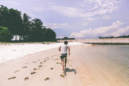 Hardlopen op het strand